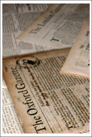 Several old-timey newspapers