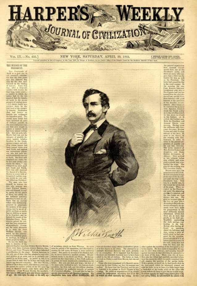 "This is the famous Harper's ""Lincoln Assassination issue""–one of the"