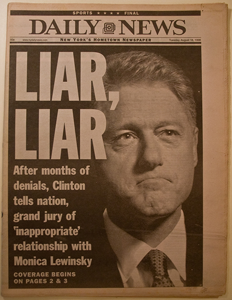bill Clinton lied