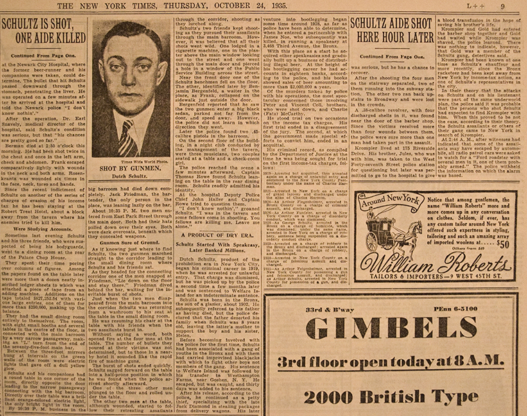 Dutch Schultz : crime, dutch, organized, schultz | Glogster