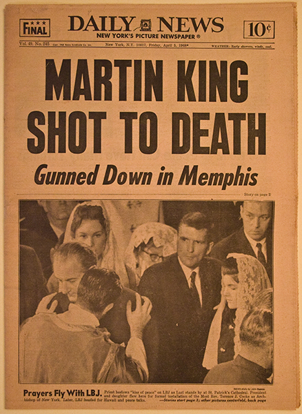 Image result for Martin king dead headlines